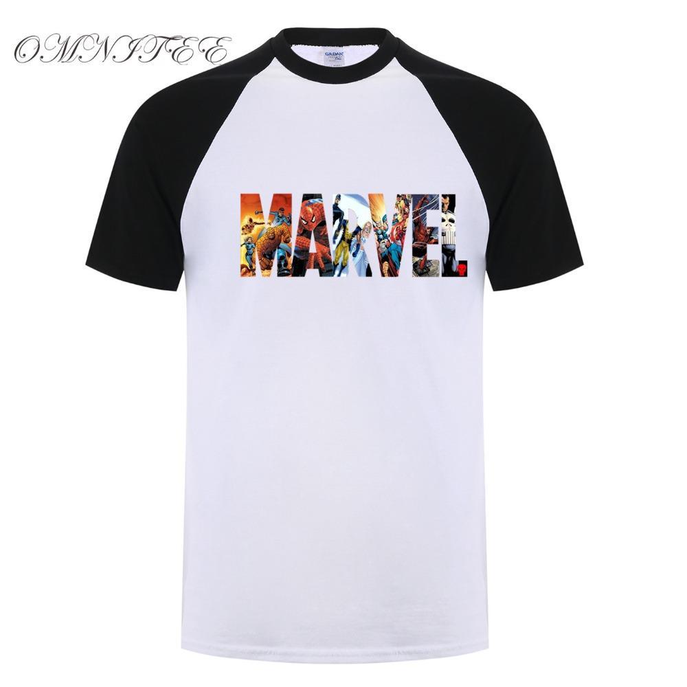 8bfd066fbd60 Compre Nueva Marvel Manga Corta Camiseta De Los Hombres Superhero Print  Camiseta O Cuello Comic Marvel Camisas Tops Hombres Ropa Camiseta A  19.24  Del ...