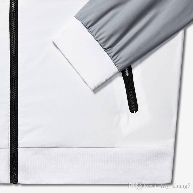 Spedizione gratuita giacca Uomo Primavera Autunno Windrunner sottile del cappotto del rivestimento, sport degli uomini Giacca a vento esplosione modelli neri paio clothin Uomo