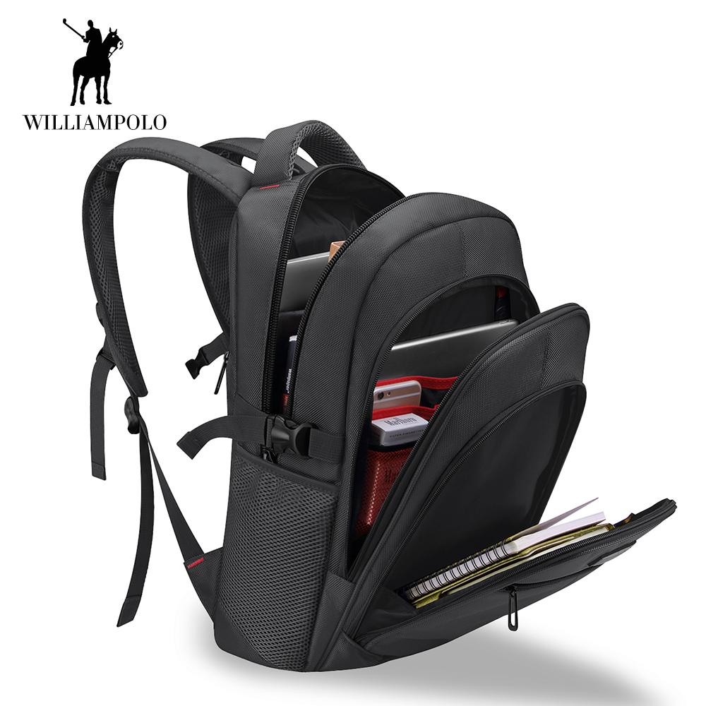 9d43ce5d8156 WilliamPOLO Laptop Backpack Travel Shoulder Bag Anti-Theft Women Men ...