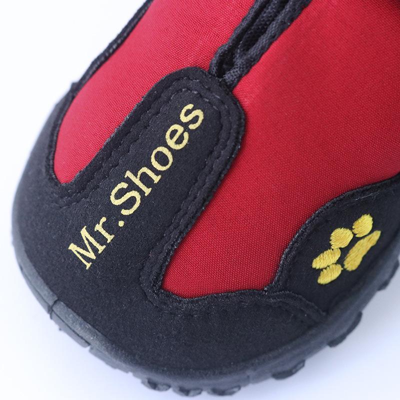 تصميم جديد 4 قطع للماء الأحذية في الرياضة التمهيد حماية لا تؤذي الأزياء الكلاب أحذية للكلاب الكبيرة لابرادور أجش الأحذية