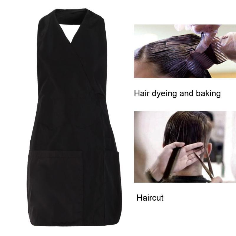 Pro 3/4pockets Salon Hairdresser Work Apron Capes Hairdressing Gown ...