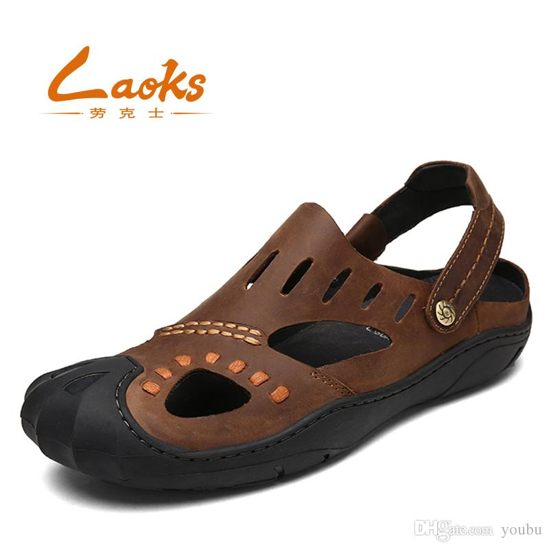 512c7969a3b2 Genuine Leather Shoes Summer New Large Size Men S Sandals Men Sandals  Fashion Sandals And Slippers Big Size 39 43 Ladies Sandals Girls Sandals  From Youbu