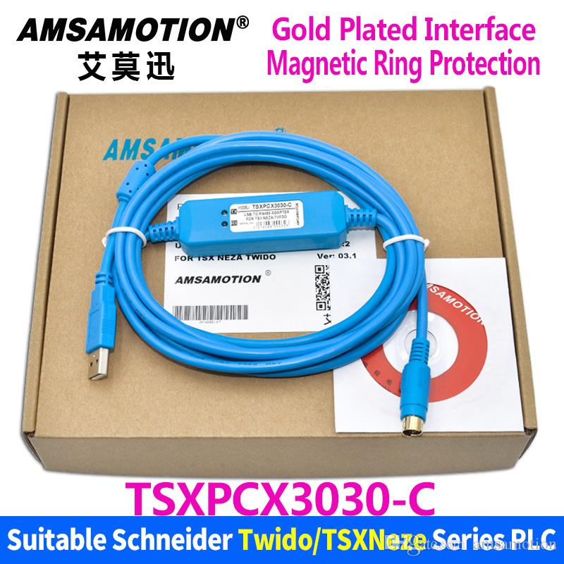 Amsamotion TSXPCX3030-C Suitable Schneider Wido/ TSX /Neza Series PLC  Programming Cable TSXPCX3030 Download Cable