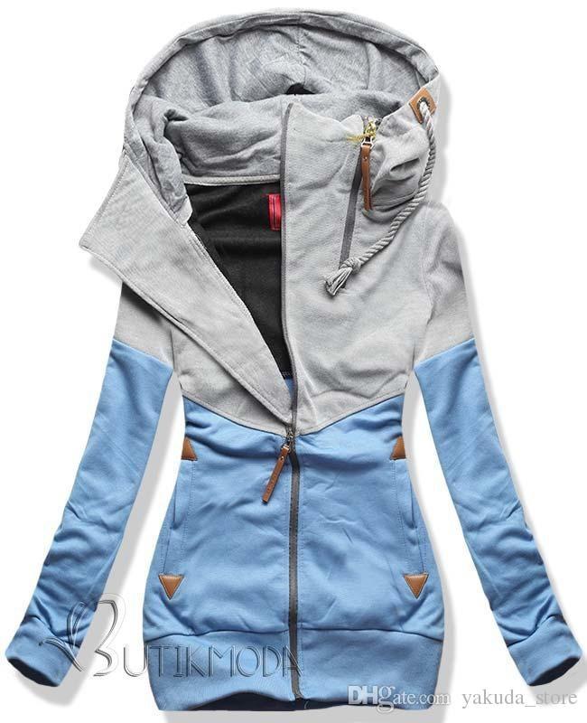 b464289fedb1a 5XL Biggest Size Double Zipper Hoodies Sweatshirt Women Autumn Long ...