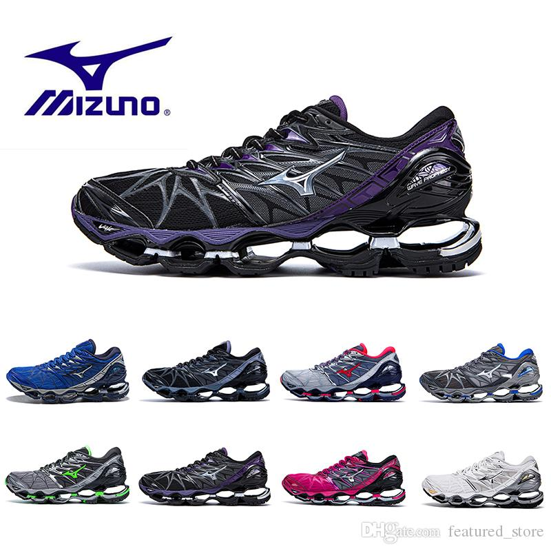 save off 01125 b2002 Wholesale Mizuno Wave Prophecy 7 Grey Red Running Shoes Men Women Originals  Top Quality Sports Sneakers Shoes Grayish Violet Size 36 45 Shoe Shopping  ...