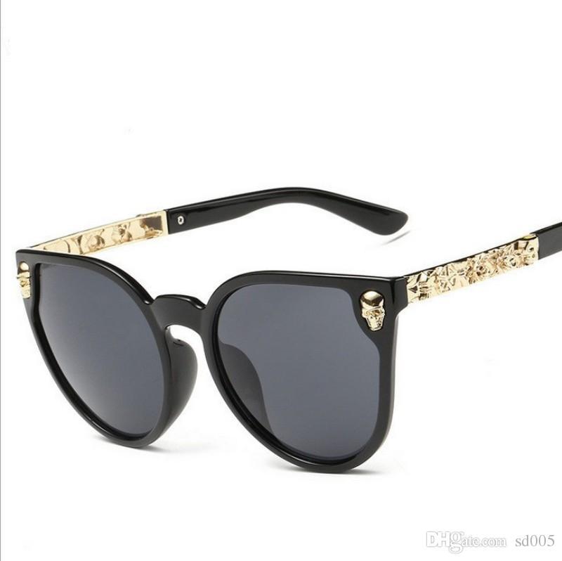 Durable Metal Carving Frame Brillen Vintage UV-Schutz Sonnenbrille nicht einfach zu verformen Männer und Frauen Sonnenbrille Bunte 14 9lj B