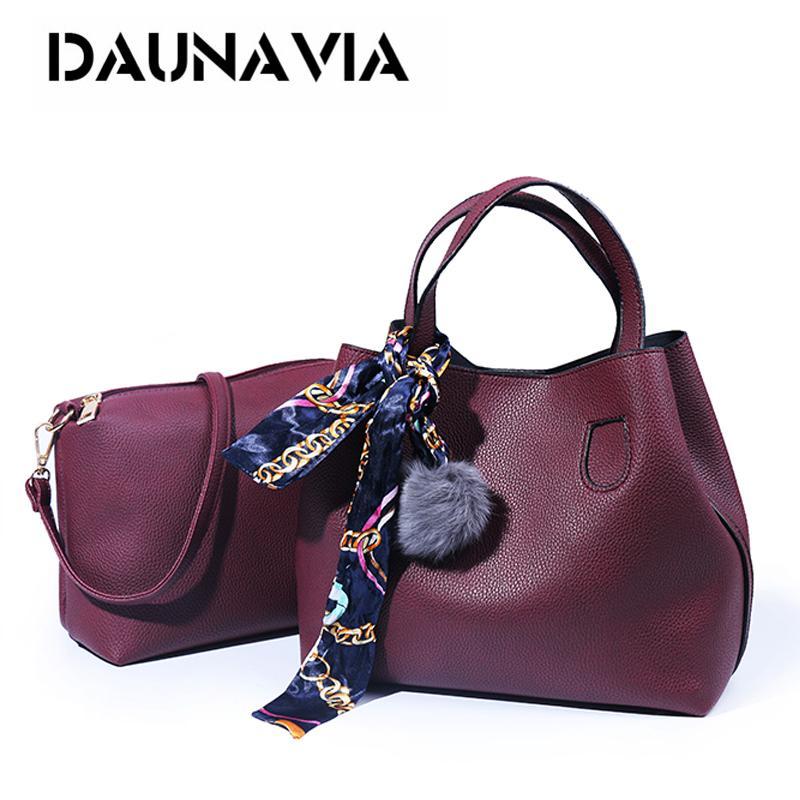 2018 Pattern Soft PU Leather Women Handbag Two Pieces Female Shoulder Bag  Girls Messenger Bag Casual Women Leather Bags Shoulder Bags From Super05 88536d497fe87