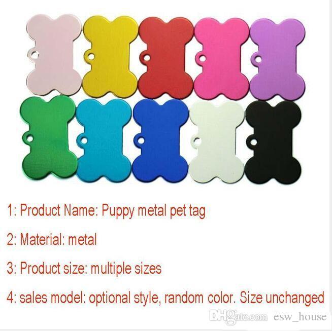 Chiot Mental Tag chien de compagnie métallique Metal Blank Dog Dog ID Card Tags de la carte d'alliage d'aluminium armée Dog Tags No Chain XL-206 livraison gratuite
