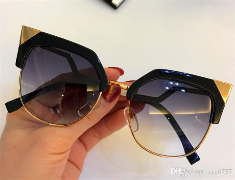 655d1146a8c4 New Fashion Designer Women Sunglasses 0149 Cat Eye Half Frame Simple ...