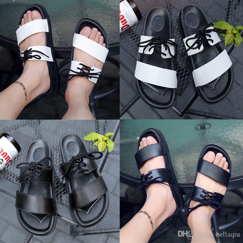 133d35cccb6 Fashion Summer Men Women Flat Slippers Shoes Men Platform Sandalias ...