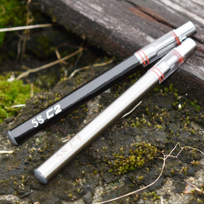Yeni Tek Kullanımlık e sigara buharlaştırıcı kalem vape 5 S c1 c2 Kalın yağ galss atomizer. 3 ml. 5 ml özü ile yağ kartuşu kalem Seramik çekirdek