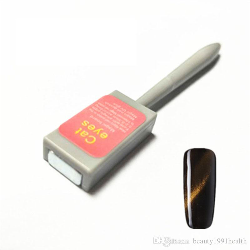 12 جهاز كمبيوتر شخصى / مجموعة عين القط مغناطيس القلم 3D مغناطيس عصا المغناطيسي رسم عمودي عصا للفن الأظافر هلام طلاء الأظافر أداة التنقيط