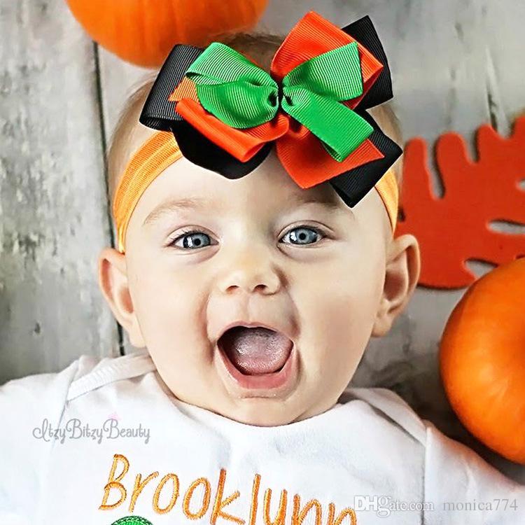 2c6c98bdb21d NEW BABY Halloween Dress Up Elastic Headbands 12 12CM 3layers Print ...