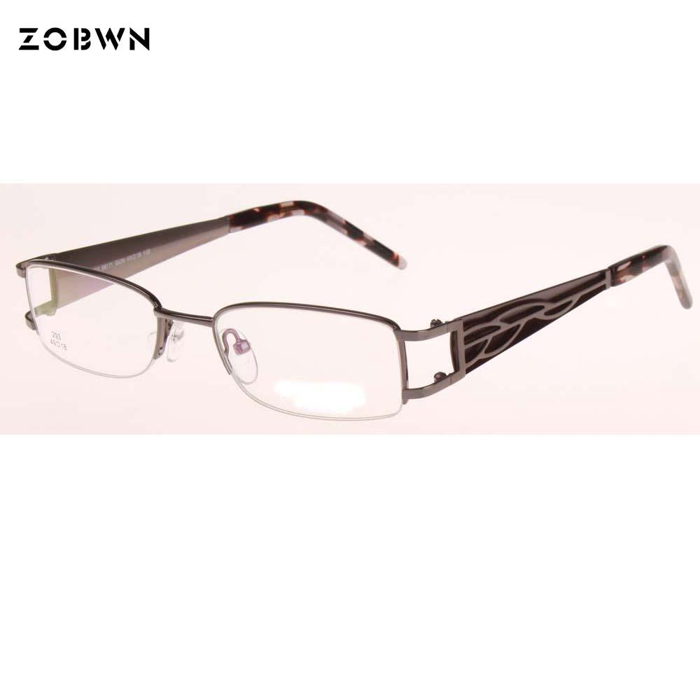 44f8bfb295621 2019 Top Fashion Half Rim Glasses Women Oculos De Grau Femininos Eyeglass Oculos  New Design Computer Glasses Myopia Plain Glass Gafas From Shuidianba