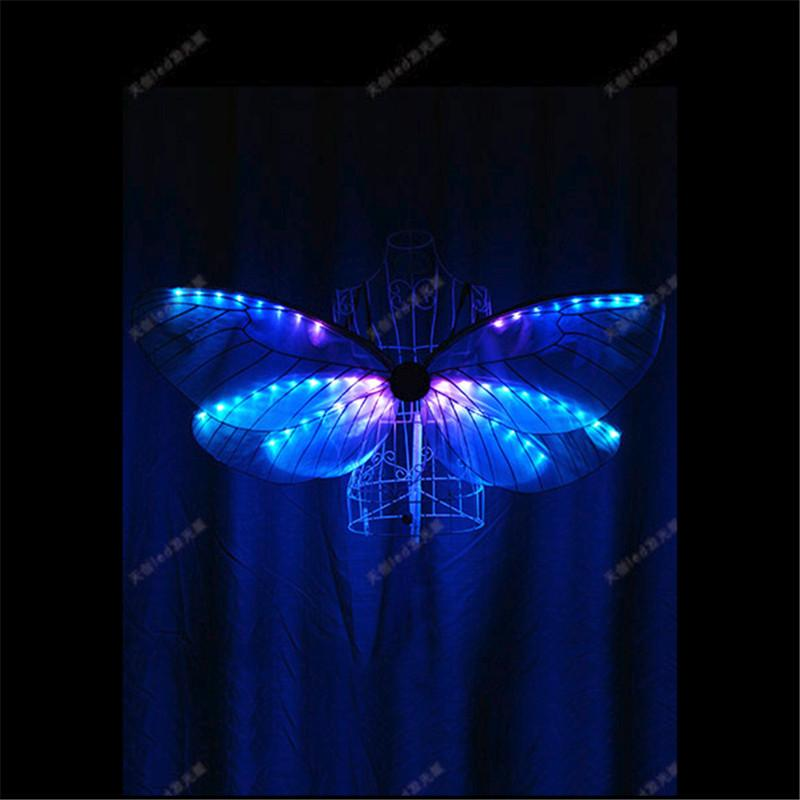 TC-171B Belly dance women wears led costumes led wings dancing bar ktv club show clothes led Butterfly wings ballroom dresses dj performance