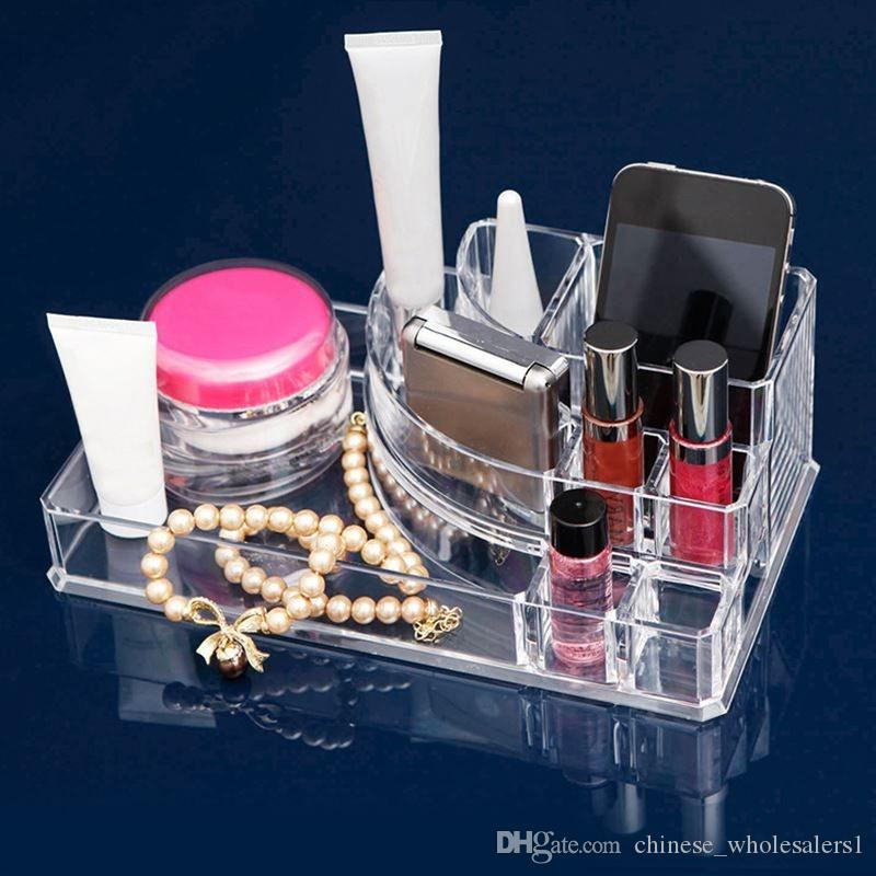 2018 Lipstick Holder Acrylic Cosmetic Organizer Display Stand Clear