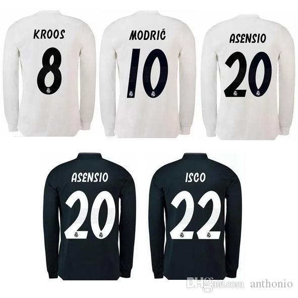 reputable site ee5cc 358ba 2018/19 long sleeve REAL MADRID KROOS MODRIC BALE camisetas futbol camisa  de futebol maillot de foot football kit uniform football shirt