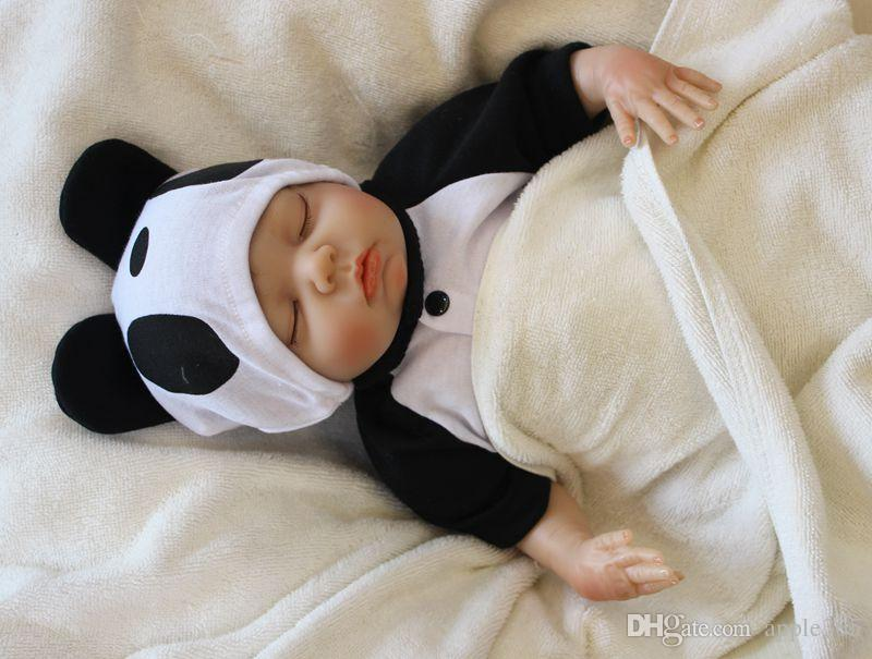 45cm/18 inch Reborn Baby Doll Girl Newborn Handmade Life like Soft Vinyl silicone Soft Gentle Touch Cloth Body Magnetic pacifier/SDK-81R1