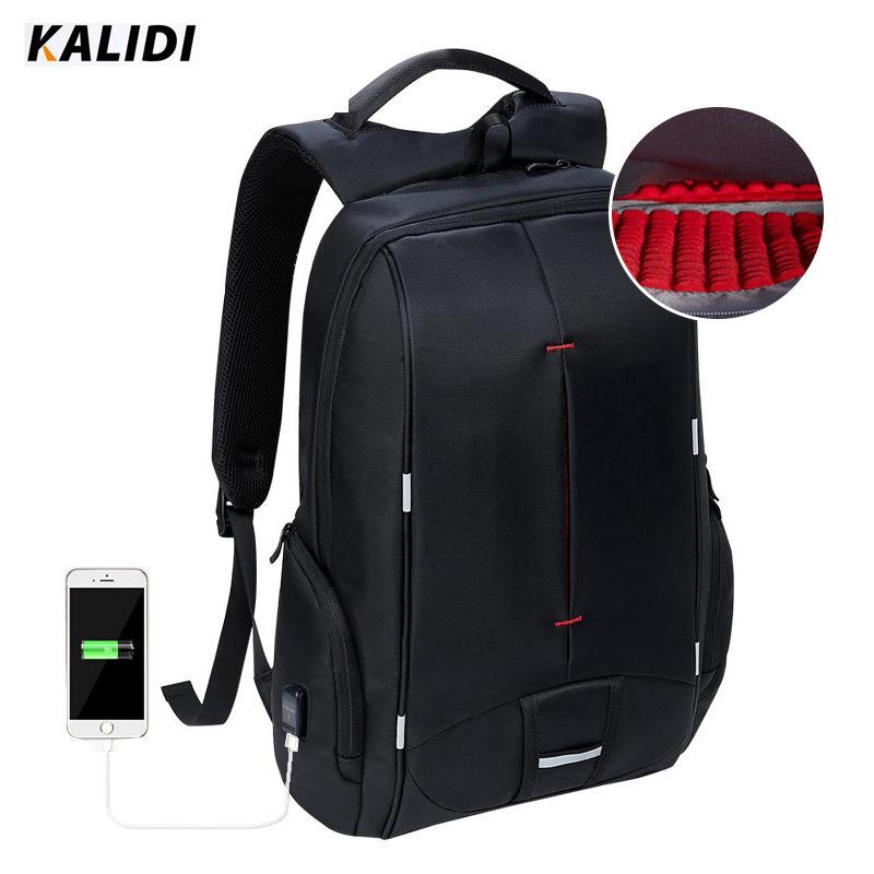 9d030d0638e11 Großhandel KALIDI Wasserdicht Laptop Rucksack USB Ladegerät 15