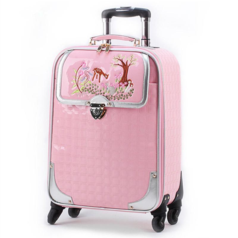 Haute Femme Valise Sacs Sac Trolley Bagages Voyage Qualité À Embarquement Main Pouce Pu Broderie Mode Affaires 162024 Cas rxeWBdCo