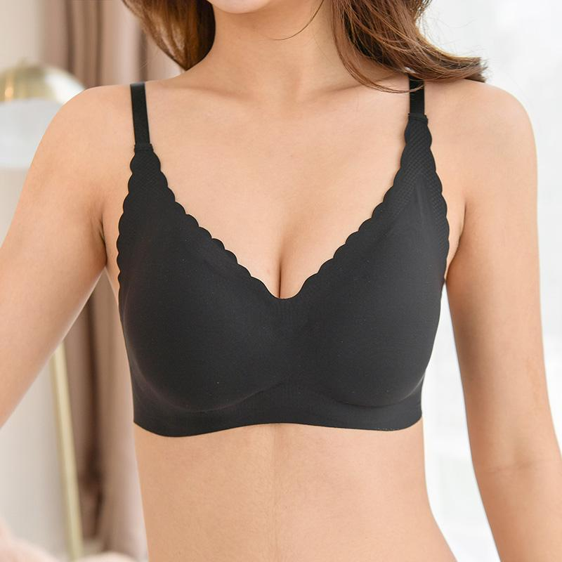 944f54dfc2ba64 2019 Women Sexy Seamless Bra Padded Crisscross Strap Solid Bralette  Lingerie Underwear Crop Top Black Beige White Ropa Interior 2018 From  Wangleme0