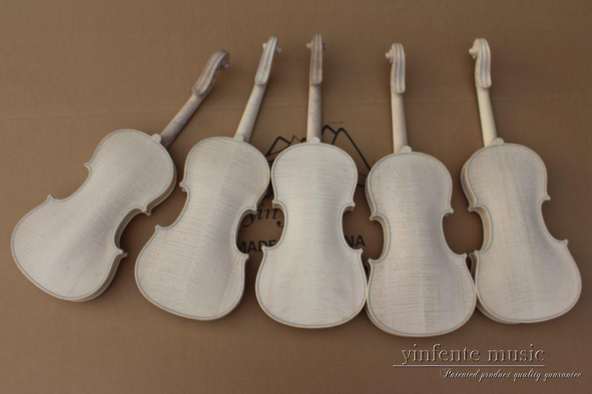 1pcs 4/4 unfinished violin flame maple back Russian spruce top Hand made  parts