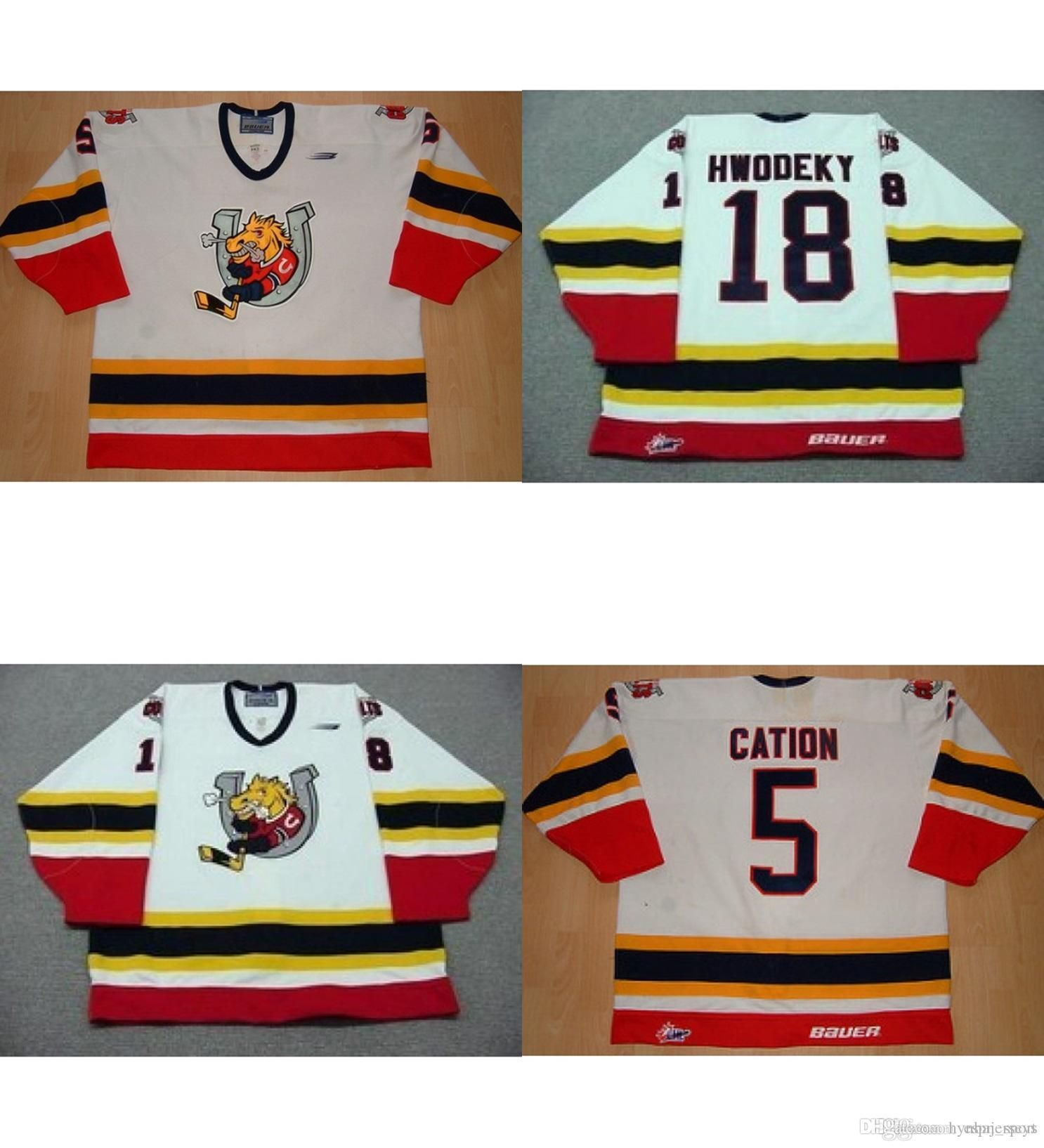 2019 Custom Personalized OHL Barrie Colts Jersey 18 Rick Hwodeky 5 Cation  Best Quality Ice Hockey Cheap Jerseys Customized Goalit Cut From  Hynbajerseys e8284a604