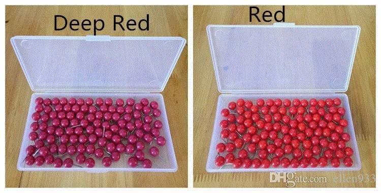 200 cajas de alfileres de bola redondos de diez colores