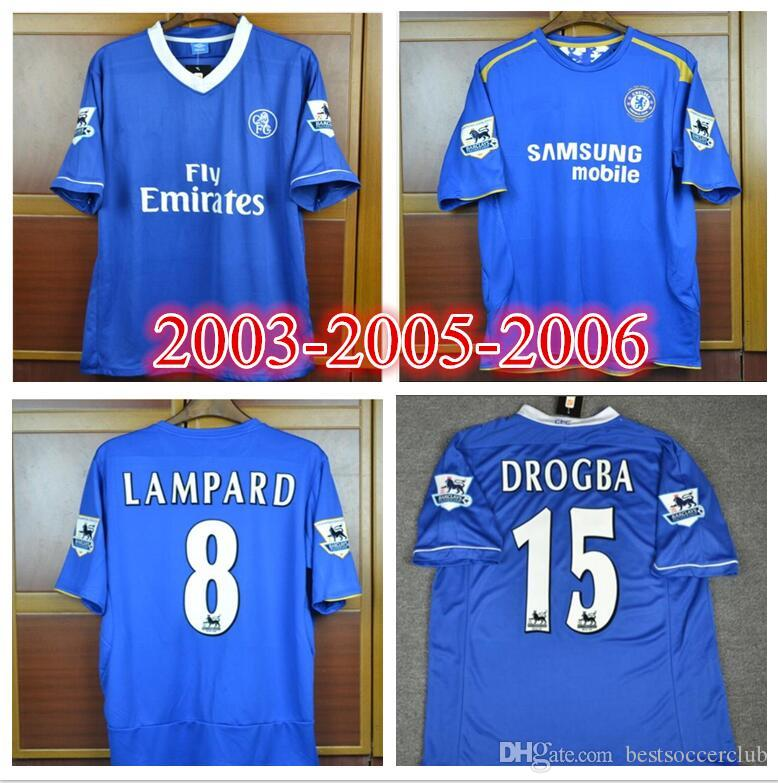8e8beb8c70e 2019 03 04 05 06 Terry Drogba Lampard Soccer Jersey 2003 2004 2005 2006  Terry Drogba Lampard Champions Vintage Football Shirt From Bestsoccerclub