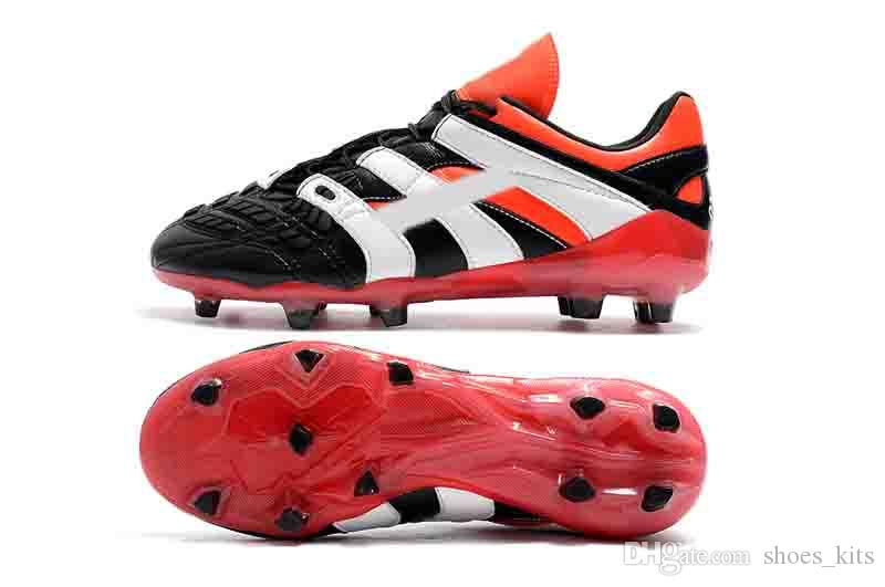 2018 Mens High Ankle Football Boots FG DB Soccer Shoes ACE 17 PureControl X  Predator Accelerator Electricity Messi Soccer Cleats Soccer Shoes Football  Boots ... 644fe27a929