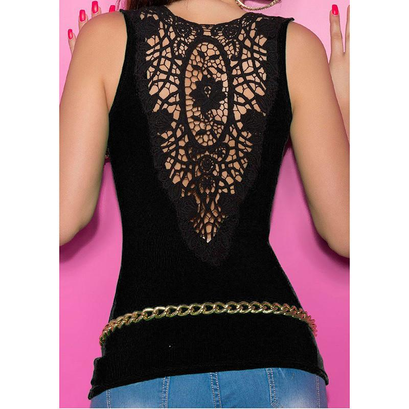 Sumer 2018 New Sexy Lace Patchwork Women Tank Top with out Belt ... 22eedf41a845