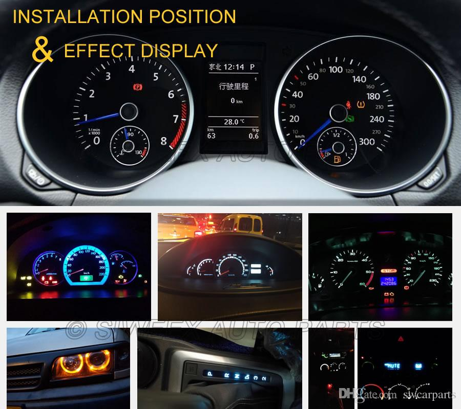 W3W T5 1SMD 3030 Car LED Light Canbus Error Free Instrument Panel Lamp Speedometer Wedge Base Lighting Bulbs 12V White