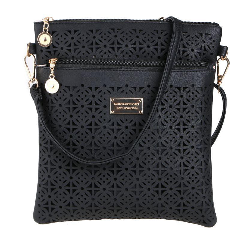 74ac4c636b Luxury Handbags Women Vintage Bags Hollow Out Female Messenger Bag Shoulder Crossbody  Bag Ladies Leather Handbags Bolsa Feminina Womens Bags Black Handbag ...