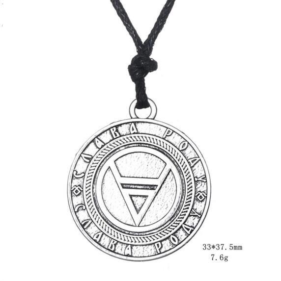 Wholesale Ancient Vikings Runes Amulet Pendant Necklace Veles Symbol