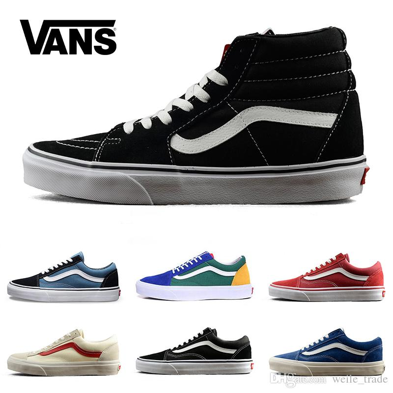 3bbe8e5ce885 2018 New Old Skool Casual Shoes Black White Classic Mens Women Canvas  Sneakers Fashion Skateboarding Trainers Men Designer Off Chaussures Formal Shoes  Shoe ...