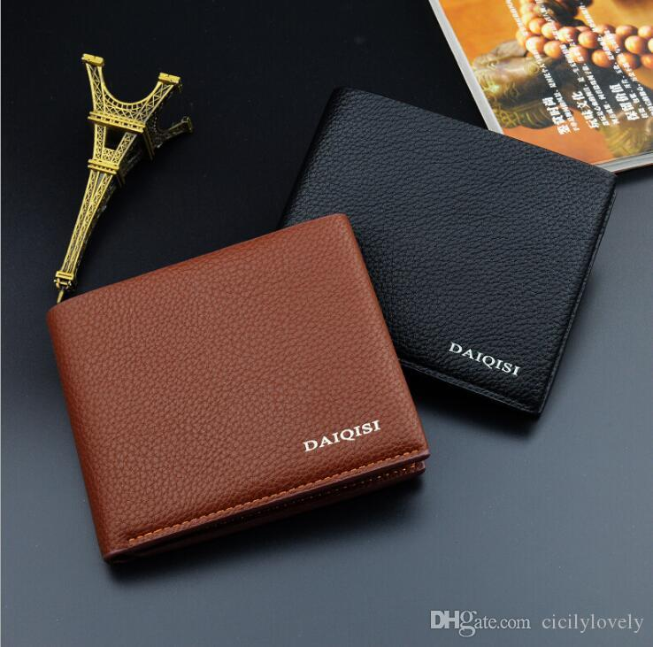 Hot Sale New Fashion Casual Business Style Men's Leather Wallet High-quality Design Patterns Famous Brand Credit Card Holder Men Wallet