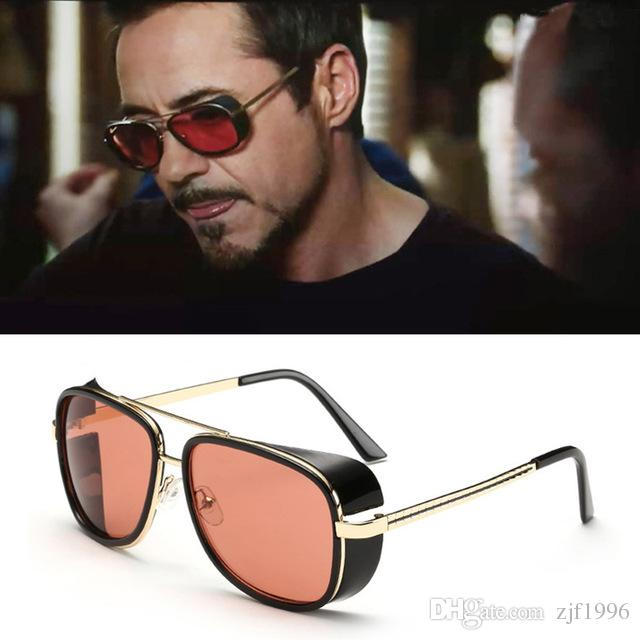 Male Steampunk Sunglasses Tony Stark Iron Man Matsuda Sunglasses Retro  Vintage Eyewear Steampunk Sun Glasses UV400 Oculos De Sol Foster Grant  Sunglasses ... 8e744e6911