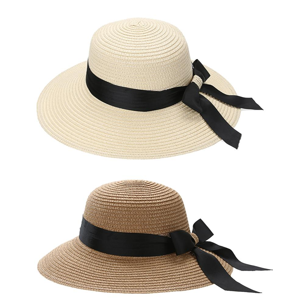 Summer Women   s Foldable Wide Large Brim Beach Sun Hat Straw Beach Cap For  Ladies Elegant Hats Girls Vacation Tour Hat. Store-wide Discount a1f9a760043f