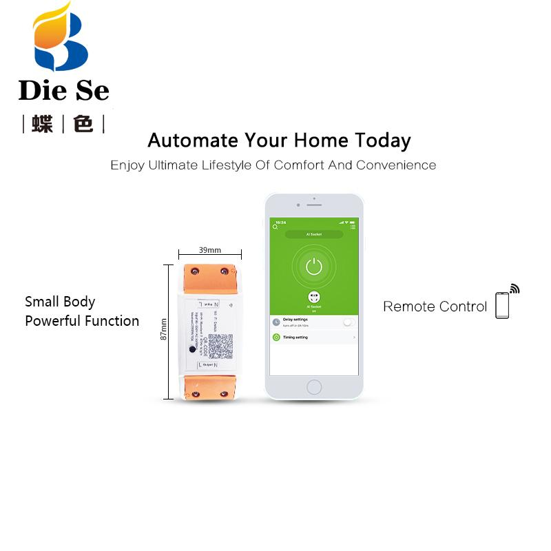WiFi Smart Switch Wireless Remote Control AC 110V 220V Light Switches Home  Automation APP Control Switch for iphone Android