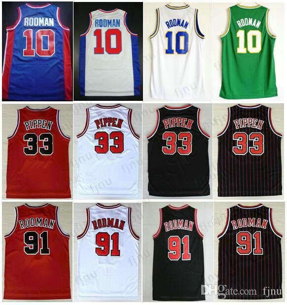 Best Quality Oklahoma Savages 91 Dennis Rodman Jersey The Worm 10 ... 71c5f6ab1