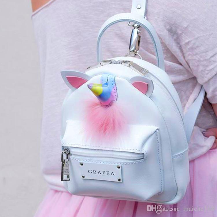 7035e348f7 New Candy Colorful Unicorn Mini Shoulder Bag Fluffy Backpack Girl Portable  Shoulder Bag Online with  33.54 Piece on Maiche168 s Store