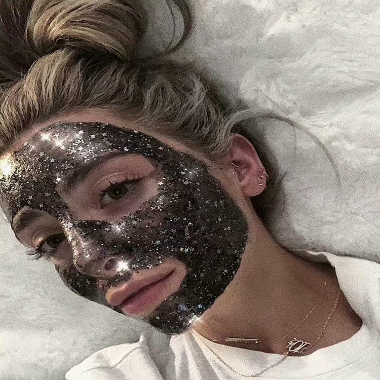 TF faced Radiance Boosting glow job mask Glitter face mask with real gold 30 minutes relaxing smooth soft facial reveal 50ml