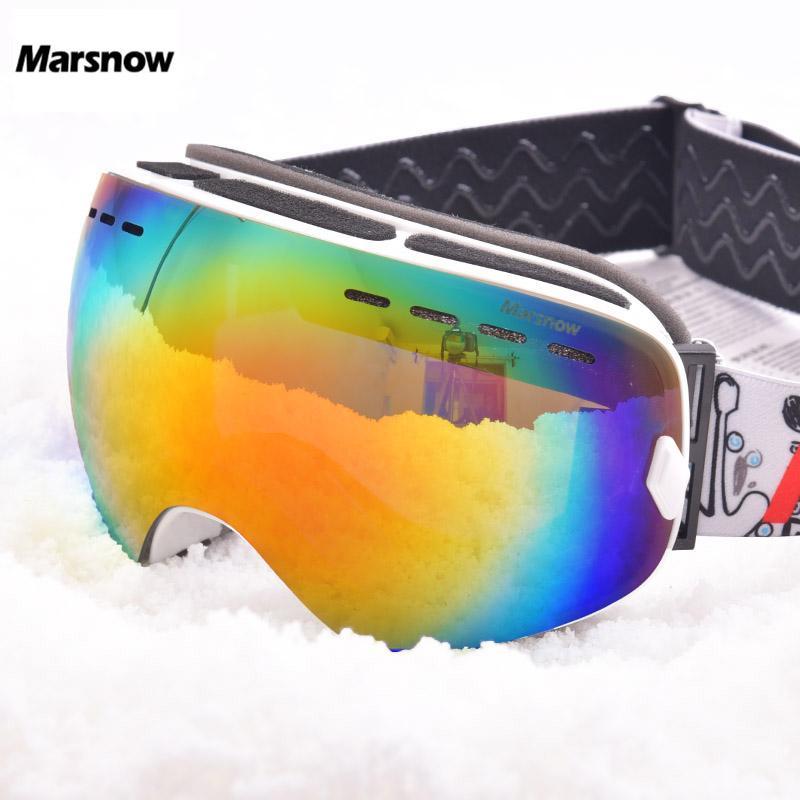 ac3540f0973 2018 Marsnow Ski Goggles Double Uv400 Anti Fog Ski Lens Mask Glasses Skiing  Men Women Children Kids Boy Girl Snow Snowboard Goggles From Fopfei