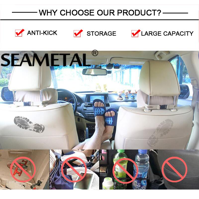 Car Trash Interior Accessories New Car Seat Back Garbage Bag Folding Table Organizer Bags Travel Automobile Accessories Stowing Tidying With Trash Storage Bag