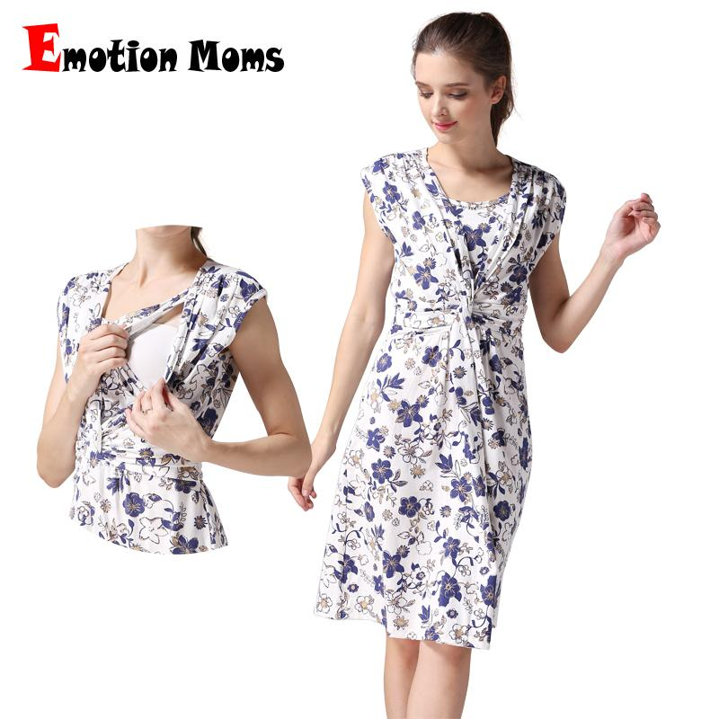 861e18cdebe 2019 Emotion Moms Summer Maternity Clothes Nursing Clothing Nursing Dress  Breastfeeding Dress For Pregnant Women Maternity Dresses From Heathera