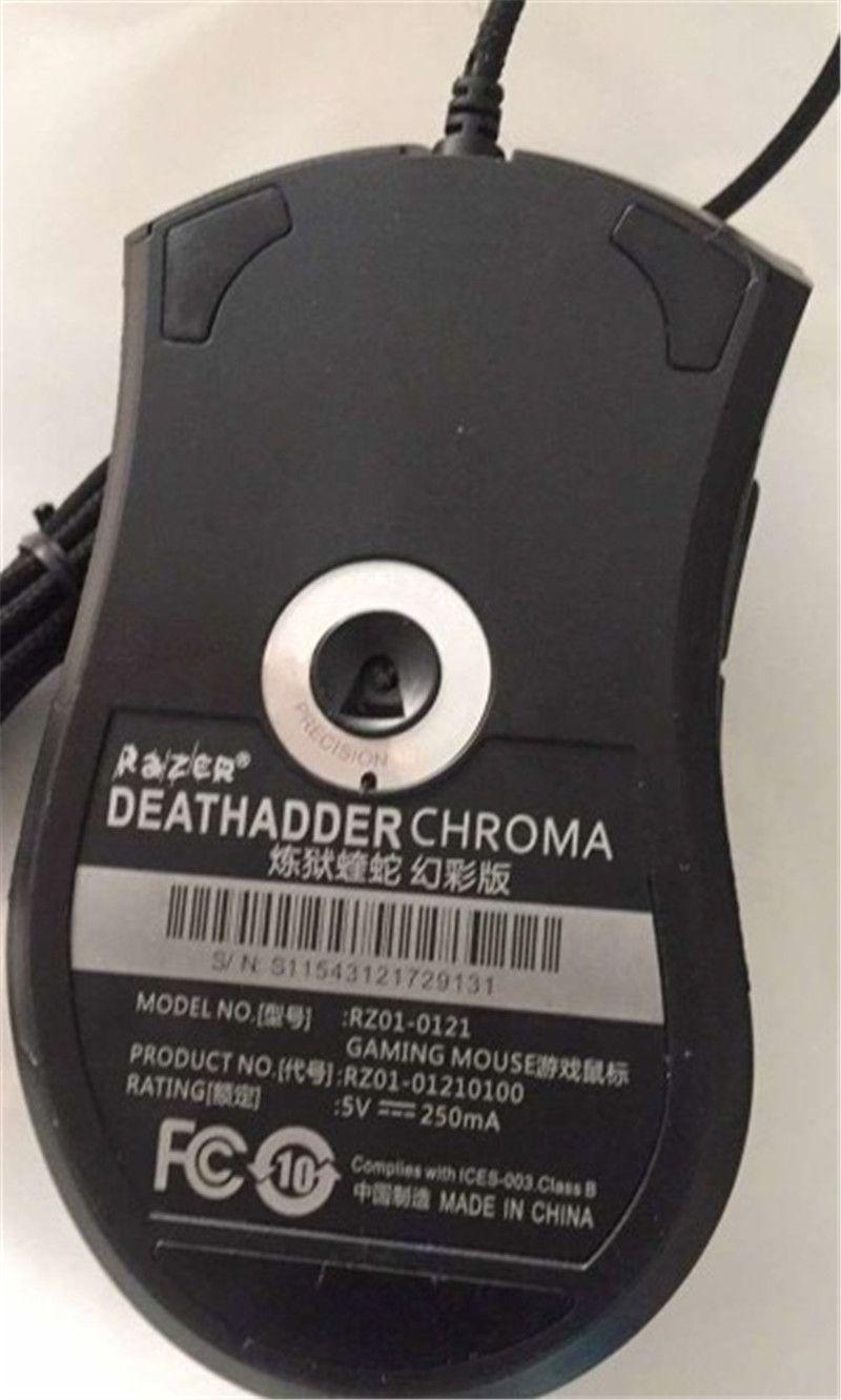 الماسح DeathAdder كروما USB سلكية بصري ألعاب الكمبيوتر ماوس 10000dpi الاستشعار البصرية ماوس ماوس الماسح DeathAdder لعب الفئران