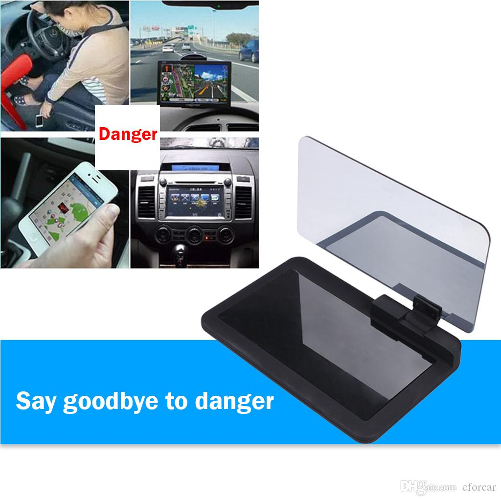 Auto Universale Smartphone Hud Holder Auto Vehicle Head Up Display Mount Phone Displayer GPS Navigation Image Riflettore Proiettore