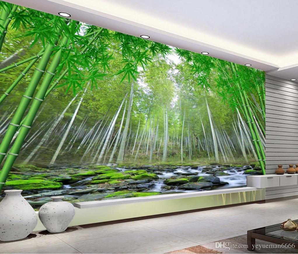 Customize Wall Murals 3d Wallpaper Bamboo Forest Mural
