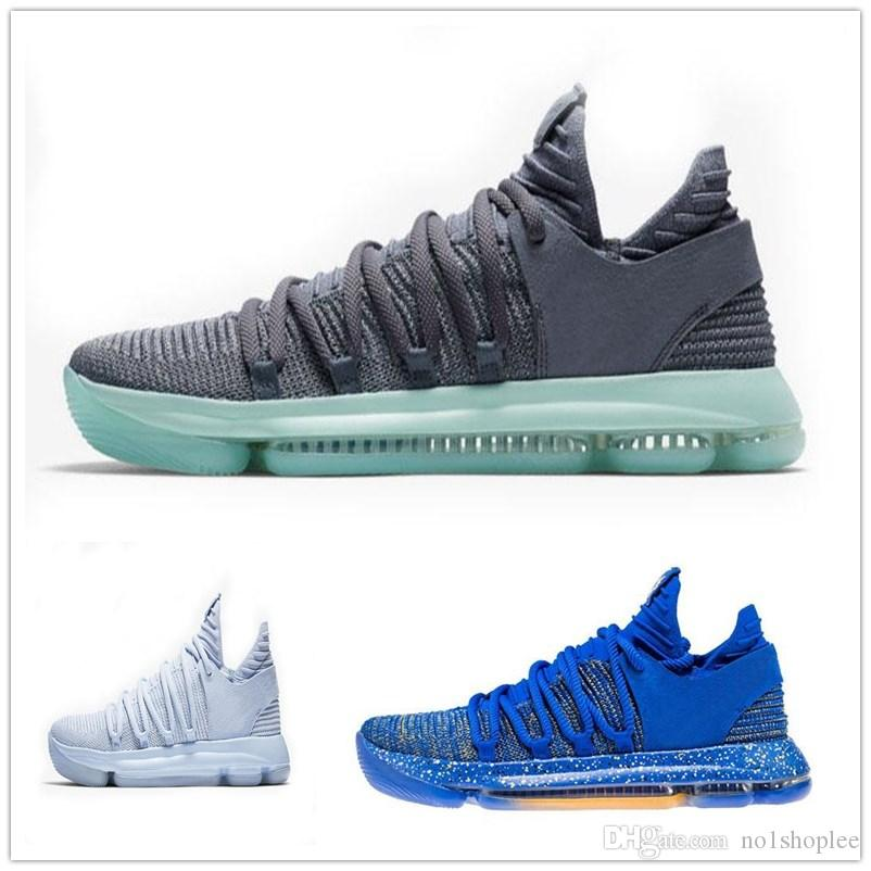 new style 9fb37 1fac4 germany nike kd shoes foot locker db556 32314  discount mens kevin durant  10 confetti basketball shoes kd 10 aunt rainbow blue white sports sneakers