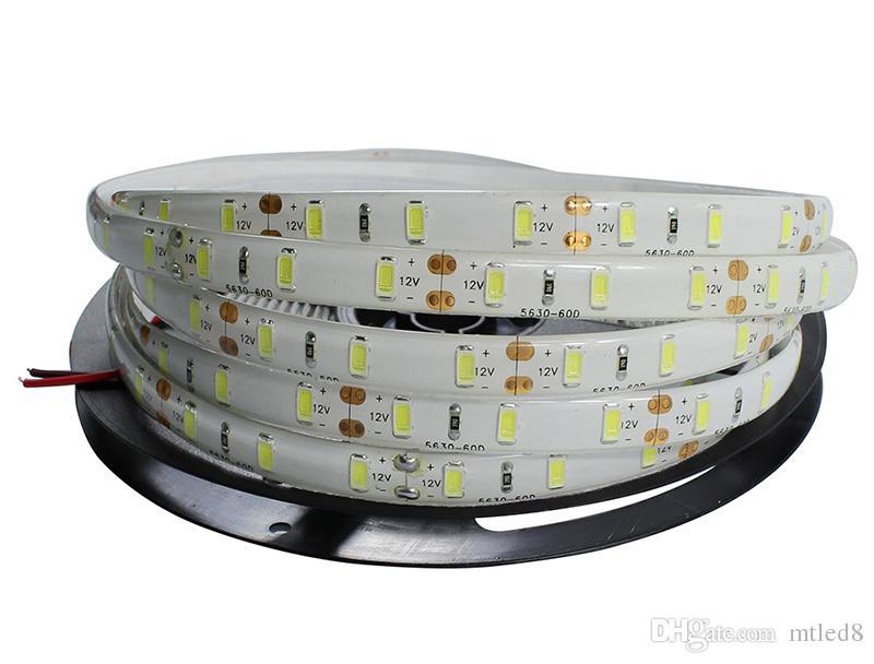 Yüksek Birght 5 M 5050 3528 5630 Led Şeritler Işık Sıcak Saf Beyaz Kırmızı Yeşil RGB Esnek 5 M Rulo 300 Leds 12 V açık Şerit